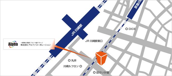 川崎事業所所在地地図