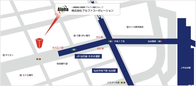 大阪支社所在地地図